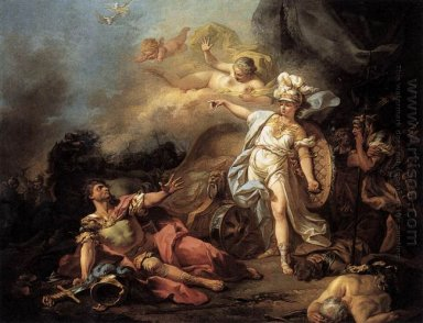 The Combat Of Mars And Minerva 1771