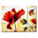 Hand-painted Oil Painting Floral Oversized Wide - Set of 2