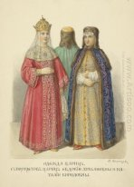 Clothing of queens.?With portraits of queens Evdokia Lukianovny