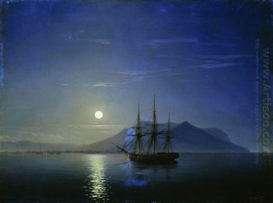 Sailing Off The Coast Of The Crimea In The Moonlit Night 1858