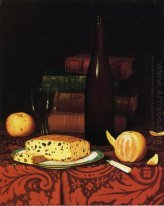 Still Life with Raisin Cake, Fruit and Wine