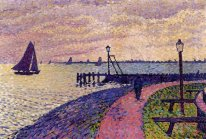 Port Entrance At Volendam 1896