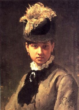 Portrait Of Vera Repina The Artist S Wife 1876
