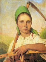 A Peasant Woman with Scythe and Rake