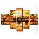 Hand-painted Landscape Oil Painting - Set of 5