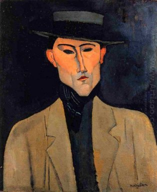 portrait of a man with hat jose pacheco