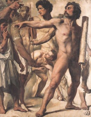 Study For The Martyrdom Of St Symphorien 1834 1