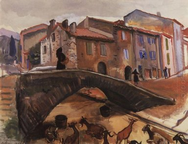 Collioure Bridge With Goats 1930