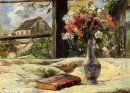 still life vase with flowers on the window 1881