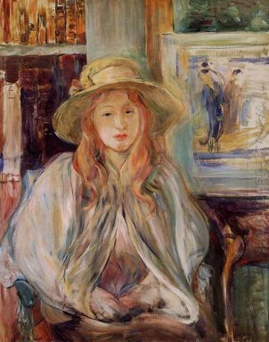 Julie Manet With A Straw Hat 1892