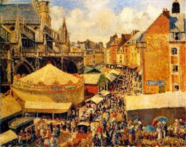 the fair in dieppe sunny morning 1901