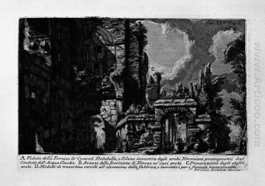 The Roman Antiquities T 1 Plate Xxv Nero S Aqueduct 1756