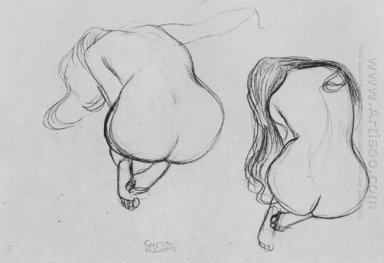Two Studies Of Sitting Nudes 1902
