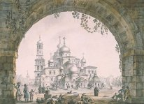 View of the New Jerusalem Monastery near Moscow