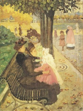 The Tuileries Gardens Paris 1895