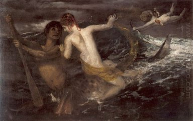 triton carrying a nereid on his back 1875