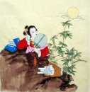 Lady, hold on a fan-Chinese Painting