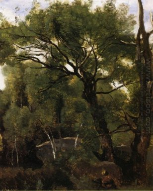 An Artist Painting In The Forest Of Fountainebleau 1855