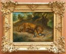 Lion And Alligator 1855