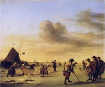 Golfers on the Ice near Haarlem