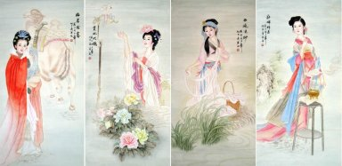 Four Beauties of ancient China-Chinese Painting