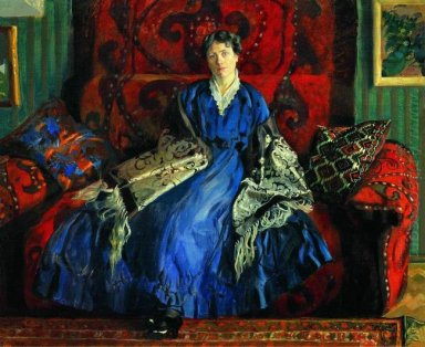 Portrait Of Y E Kustodieva 1920