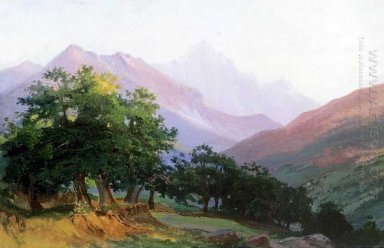 Oaks In The Mountains Of Carrara