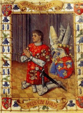Simon De Varie Kneeling In Prayer