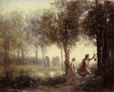 Orpheus Leading Eurydice From The Underworld 1861