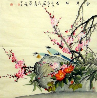 Birds-Flower - Chinese Painting