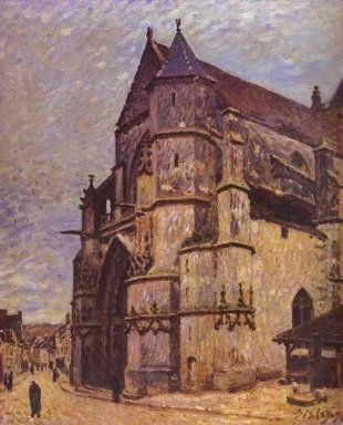 the church at moret winter 1894