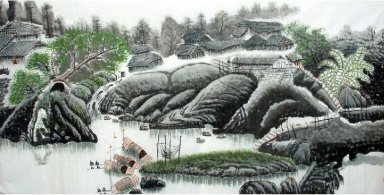 Water Township - Chinese Painting