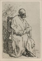 A Beggar Sitting In An Elbow Chair 1630
