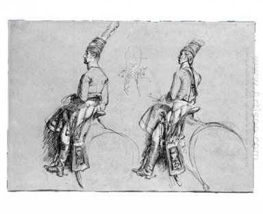 Two Equestrian Figures 1813