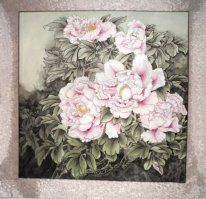 Peony y Mounted - la pintura china