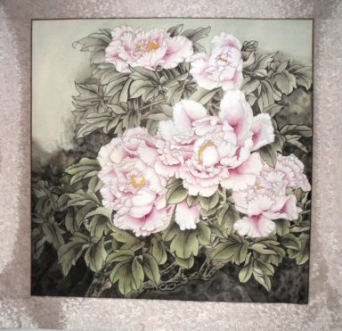 Peony&Mounted - Chinese Painting