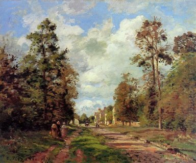 the road to louveciennes at the outskirts of the forest 1871