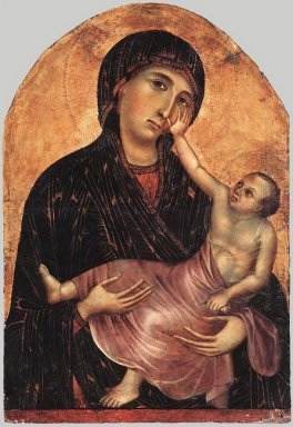 Oil Madonna And Child