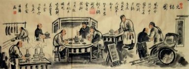 Old Beijing, Restaurant - Chinese painting