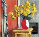 still life yellow flowers 1954