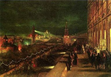 Illumination Of Moscow On The Occasion Of The Coronation In 1883