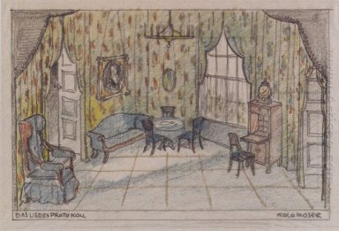 Stage Design For The Minutes Of Love By Edward Bauersfeld 1