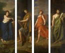 Four shop signs (Hygieia, Hippocrates, Galen and Fauna) for the