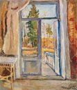 Spring Open Door On The Balcony 1948