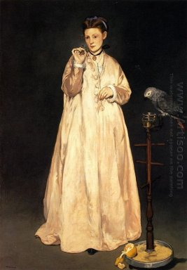 woman with a parrot 1866