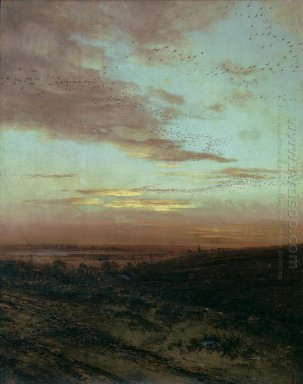 evening migration of birds 1874