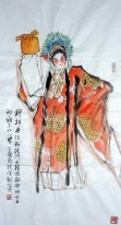 Opera characters, Mu Guiying - Chinese Painting