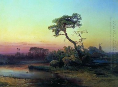 landscape with pine 1854