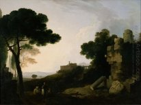 Landscape Capriccio with Tomb of the Horatii and Curiatii, and t