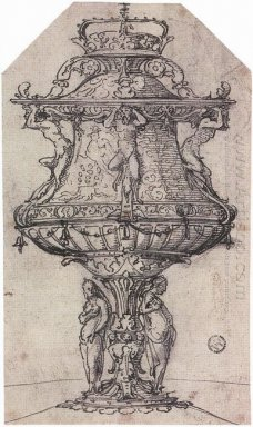 Design For A Table Fountain With The Badge Of Anne Boleyn
